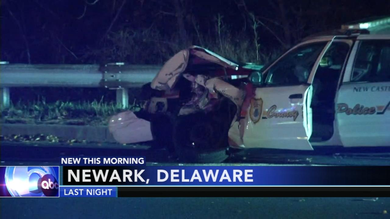 New Castle County officer involved in crash