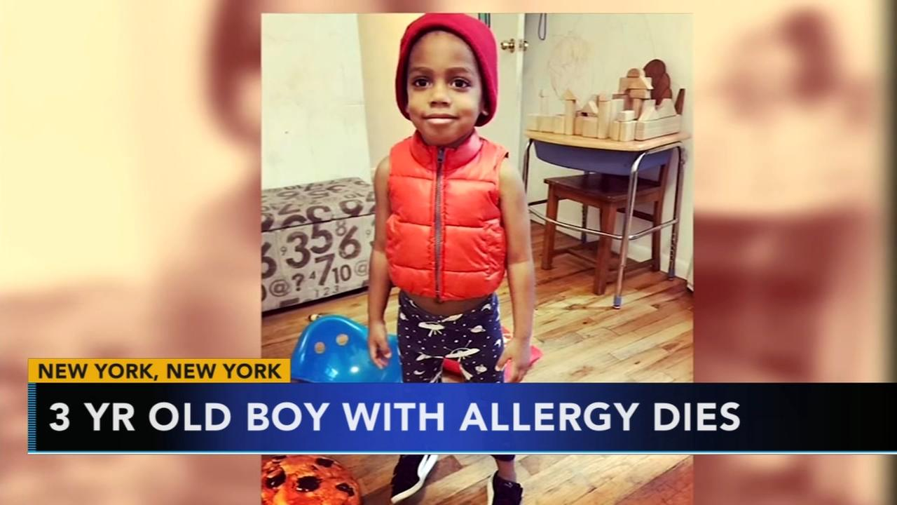 3-year-old boy with food allergy dies