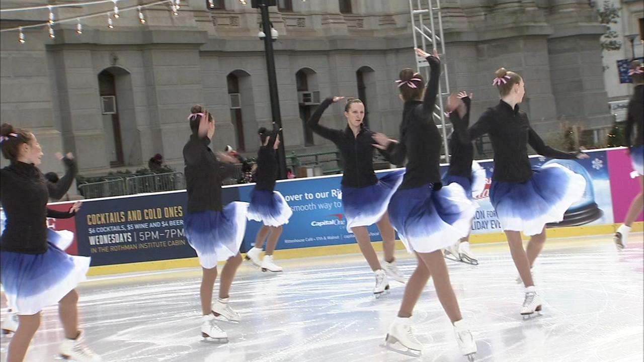 Rothman Institute Ice Rink at City Hall opens