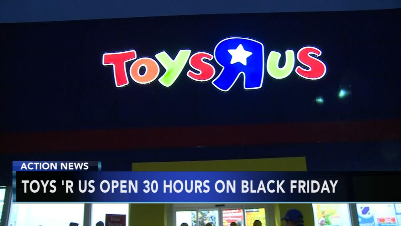 Toys-R-Us stores to open for 30 straight hours on Black Friday