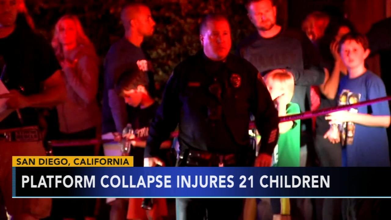 Platform collapse injures 21 children