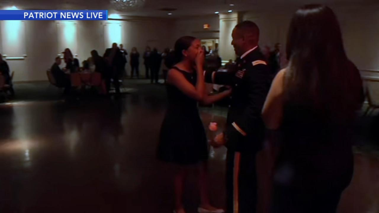 Military dad surprises local teen