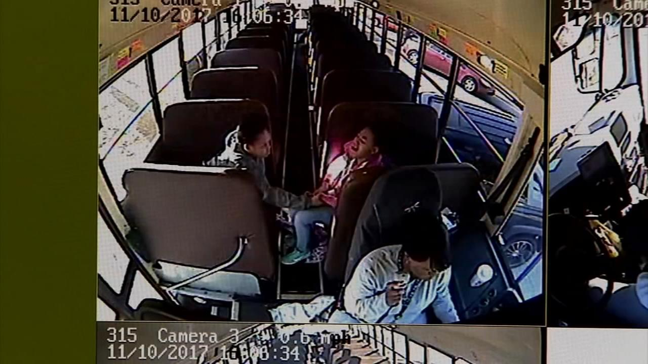 Bus driver rescues kids from fiery crash