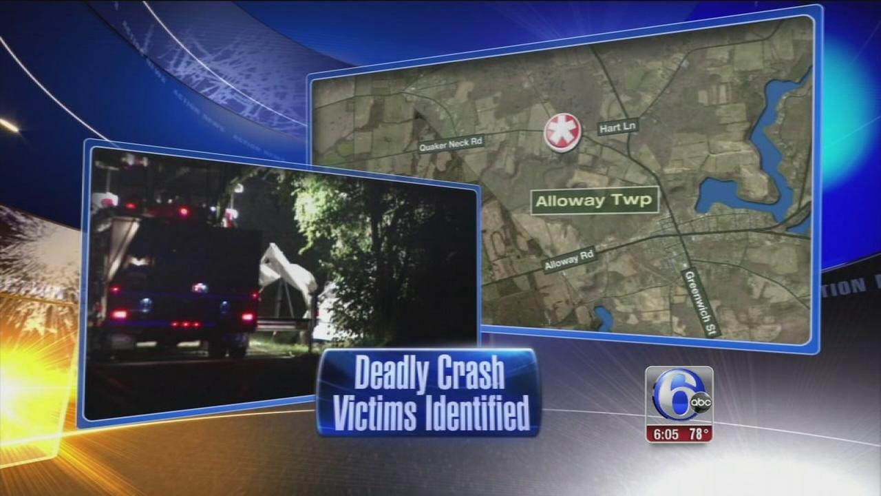 VIDEO: Driver, passenger killed in Alloway Twp. crash IDd