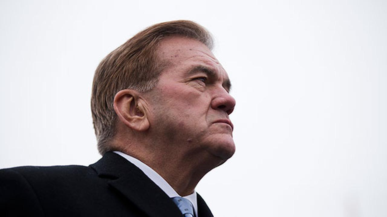 Former Gov. Tom Ridge stands before Tom Wolf takes the oath of office to become the 47th governor of Pennsylvania Tuesday, Jan. 20, 2015, at the state Capitol in Harrisburg.