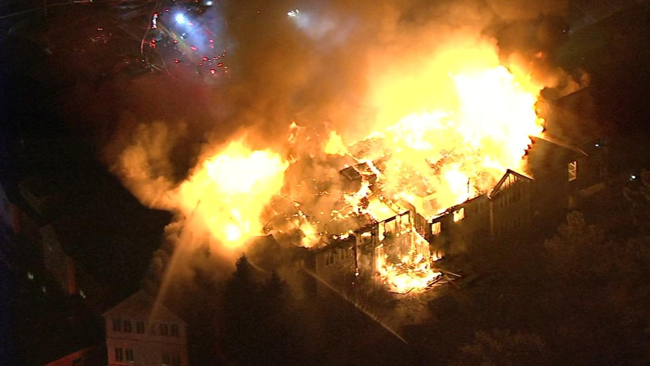 RAW VIDEO: Chopper 6 video of West Chester fire