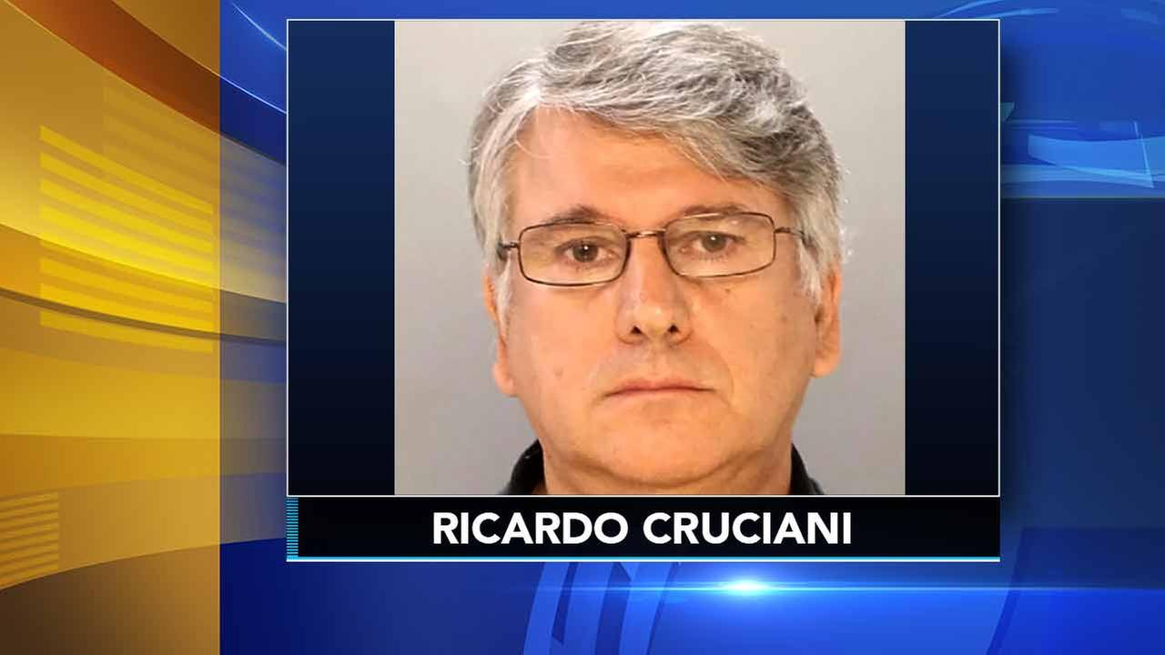 This undated photo provided by the Philadelphia Police Department shows Dr. Ricardo Cruciani, a neurologist charged with groping patients at a Philadelphia clinic.