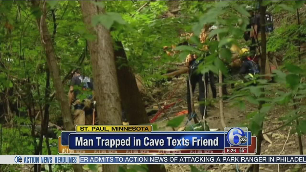 VIDEO: Man trapped in cave texts friend