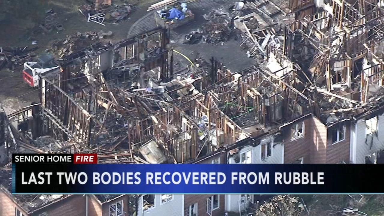 Last two bodies recovered from rubble of senior center fire
