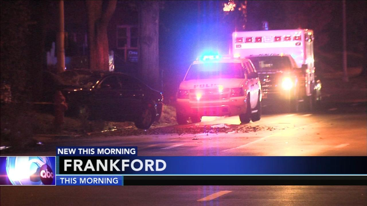 Woman killed, driver injured in Frankford car accident