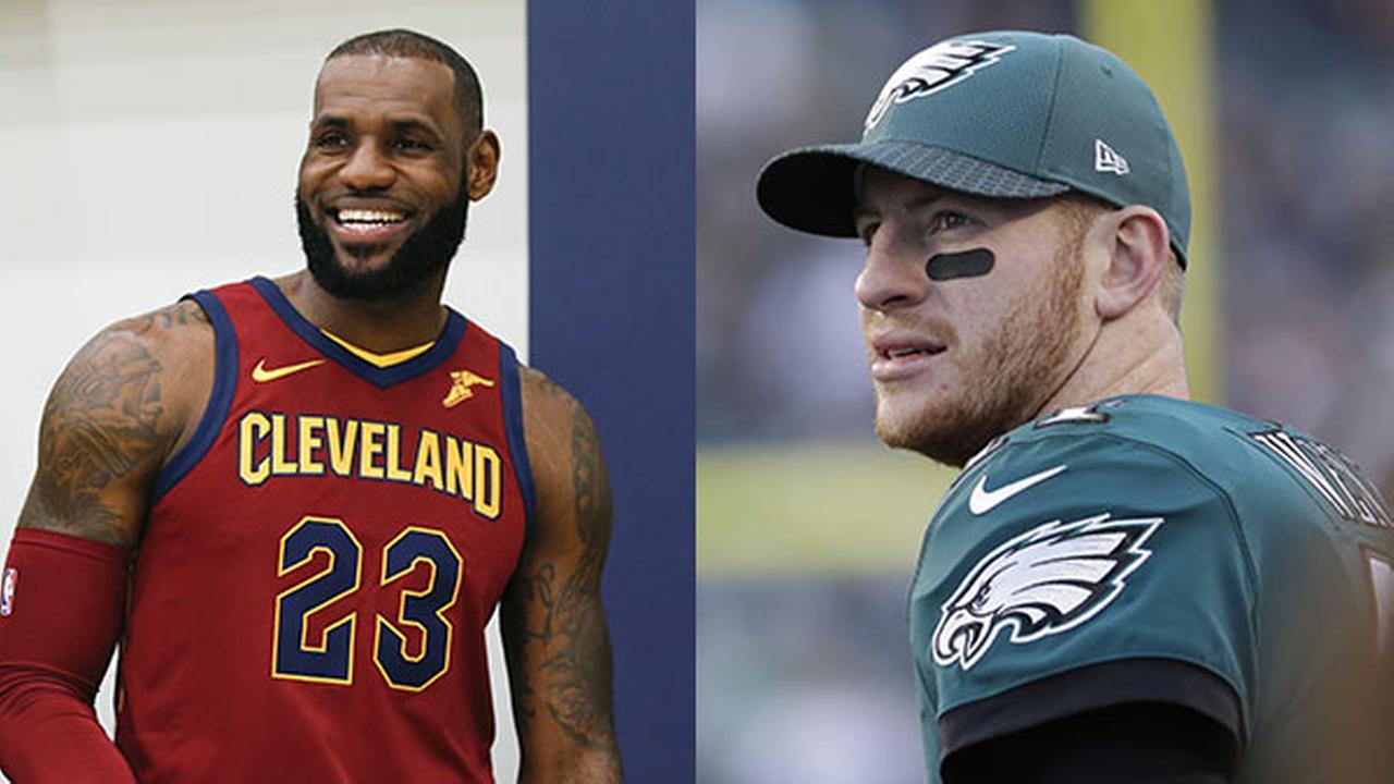 LeBron James' favorite player is Eagles' Carson Wentz