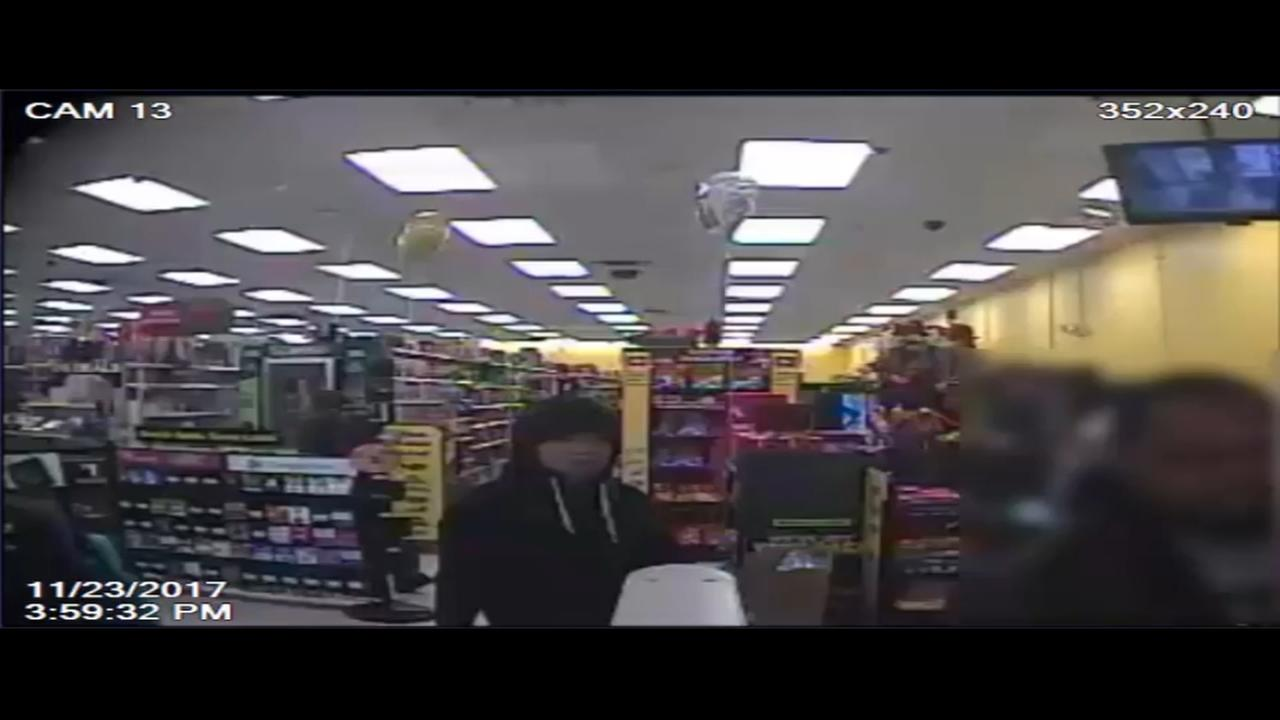 RAW VIDEO: Dollar store robber caught on camera