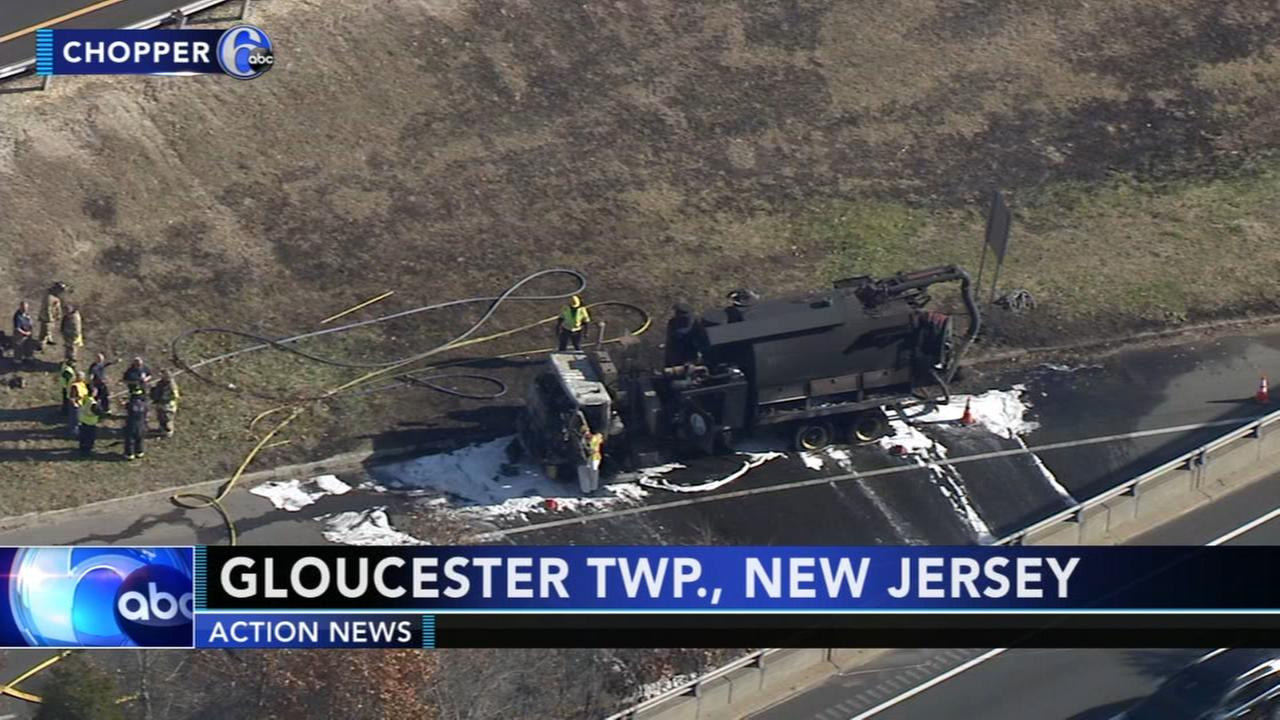 Truck fire causes delays on Route 42 in Gloucester Twp.
