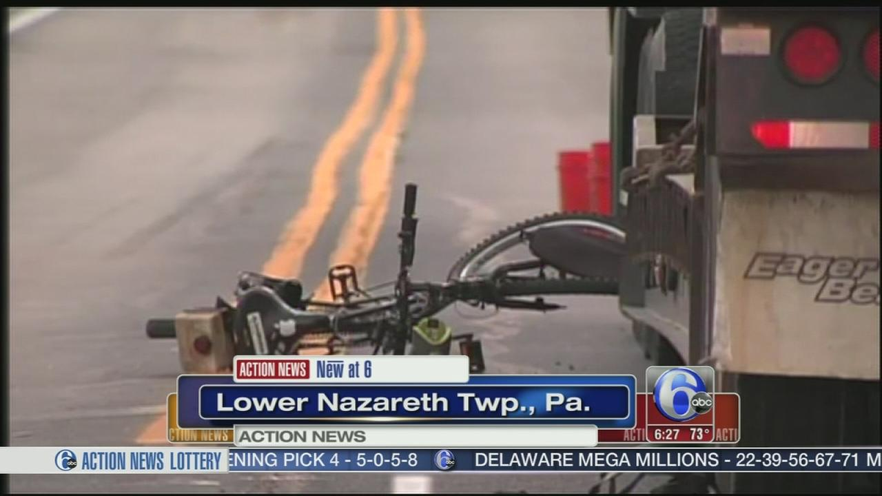 VIDEO: Teen biker collides with tractor trailer in Northampton Co.