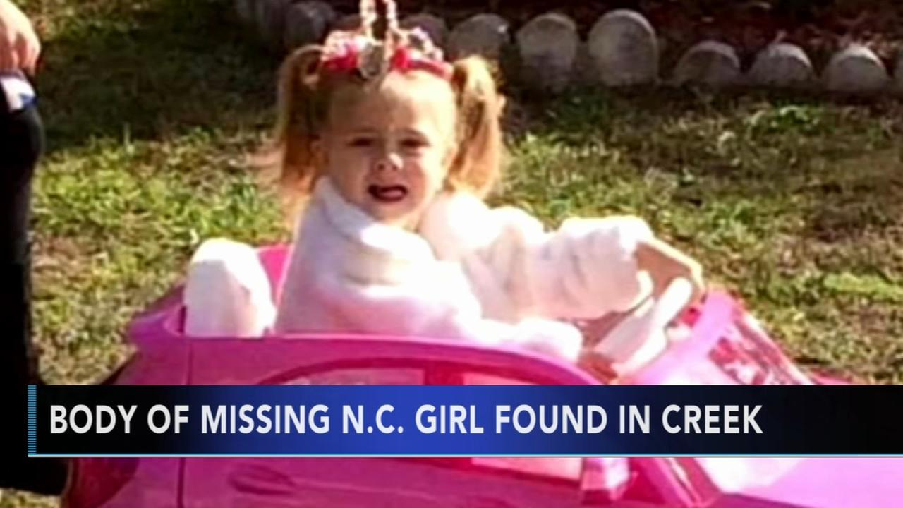 Missing NC girl Mariah Woods body found in creek; arrest made