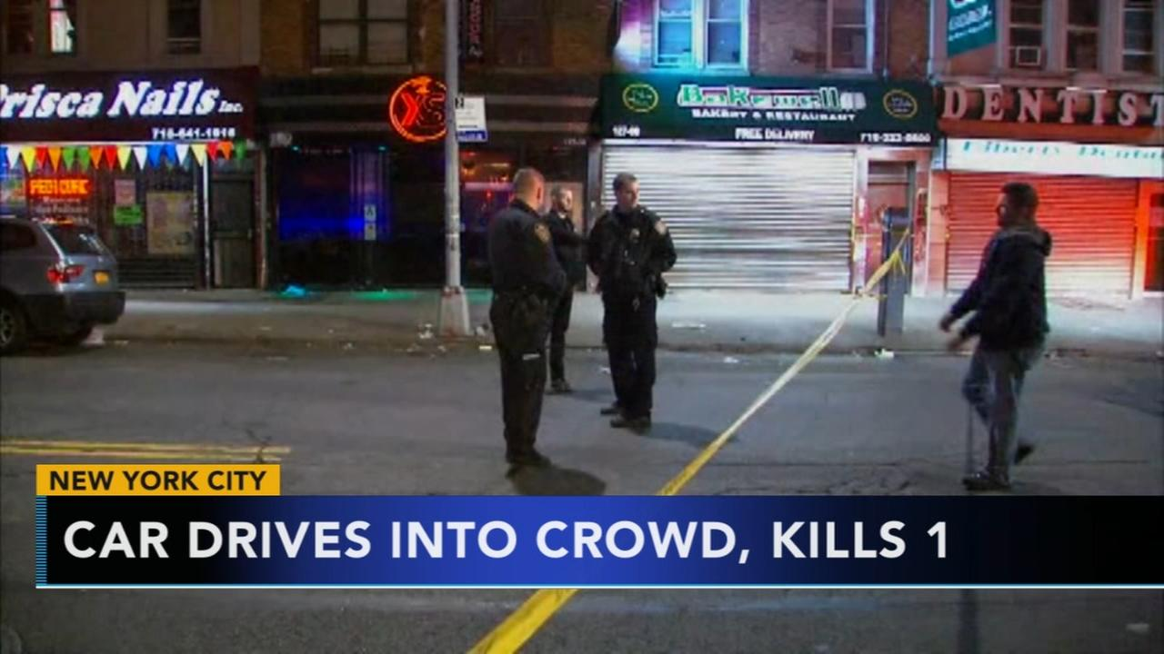 Police: 1 killed, several hurt after driver hits NYC crowd