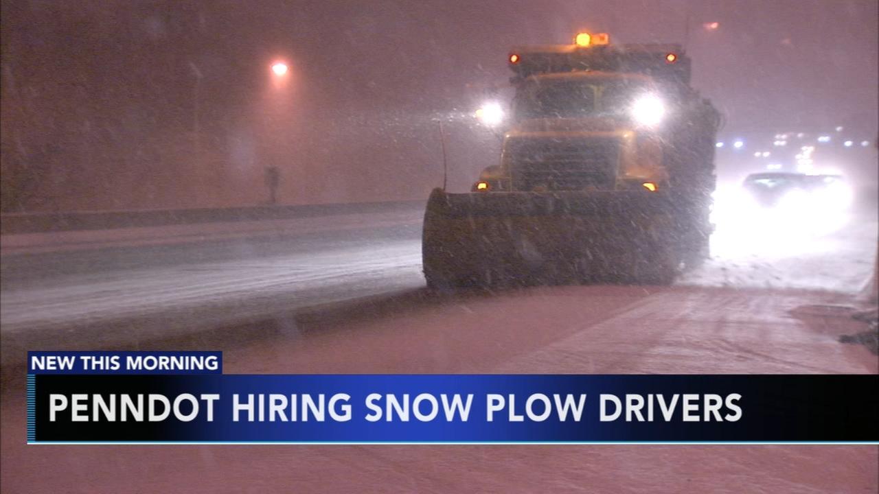 PennDOT hiring snow plow drivers