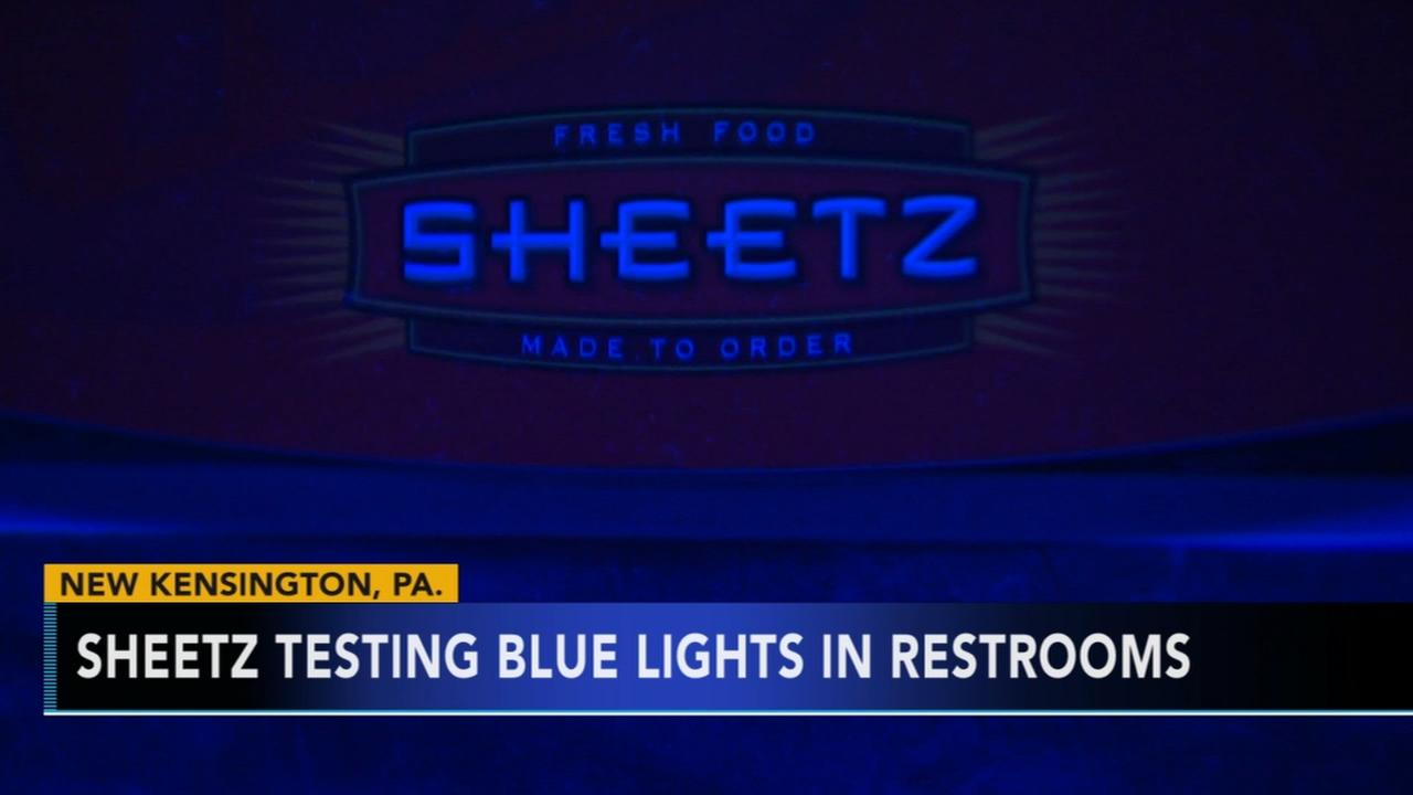 Sheetz testing blue lights in restrooms