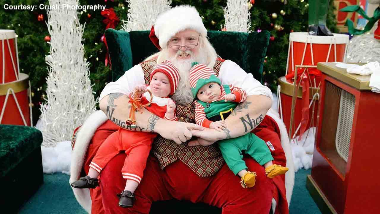 VIDEO: Beloved Tatted Santa asked to tone it down