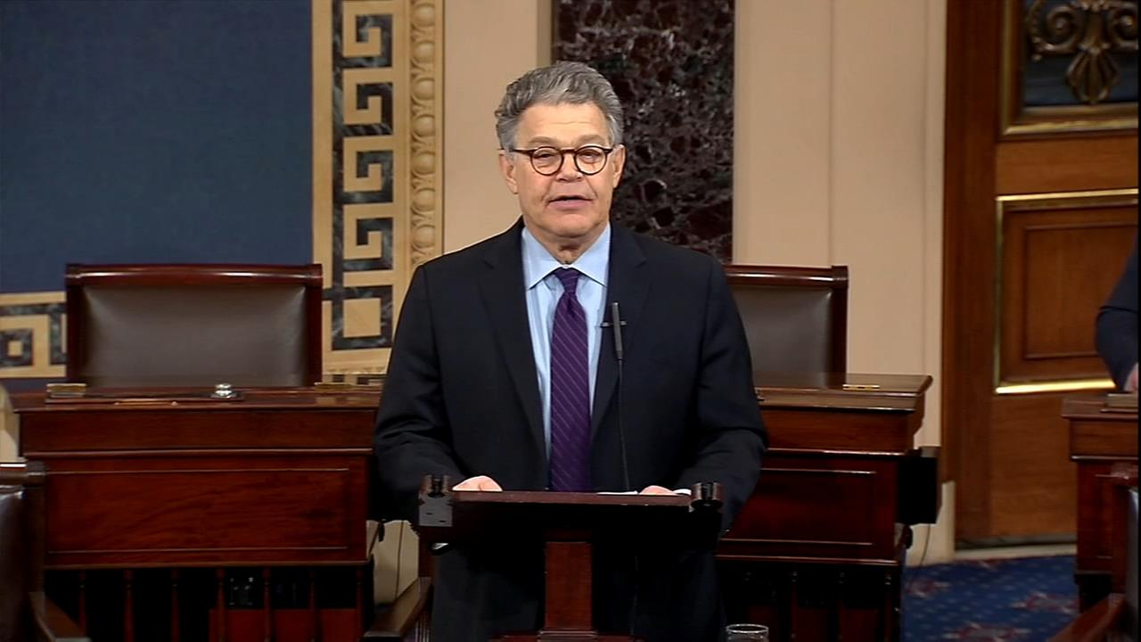 Sen. Franken resigning amid sexual misconduct allegations