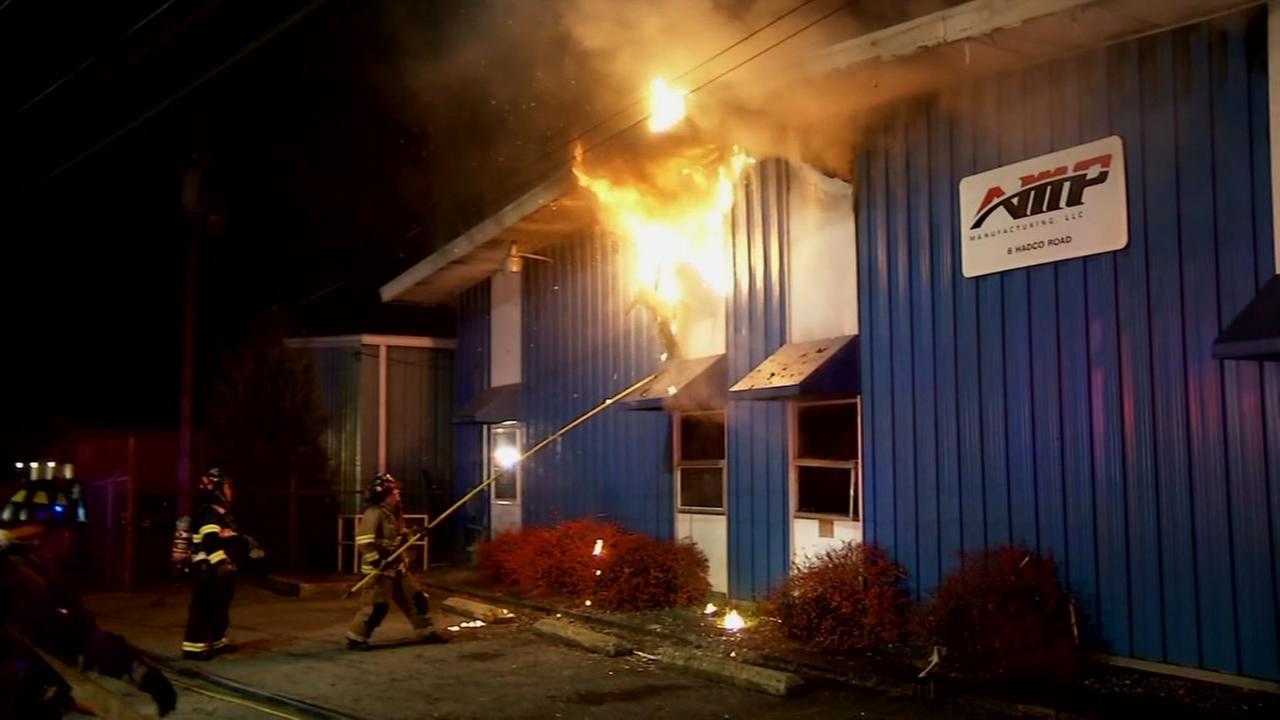 Fire erupts inside business in Elsmere
