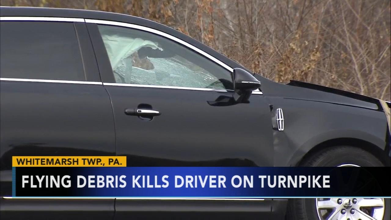 Driver killed by flying debris on Pennsylvania Turnpike identified