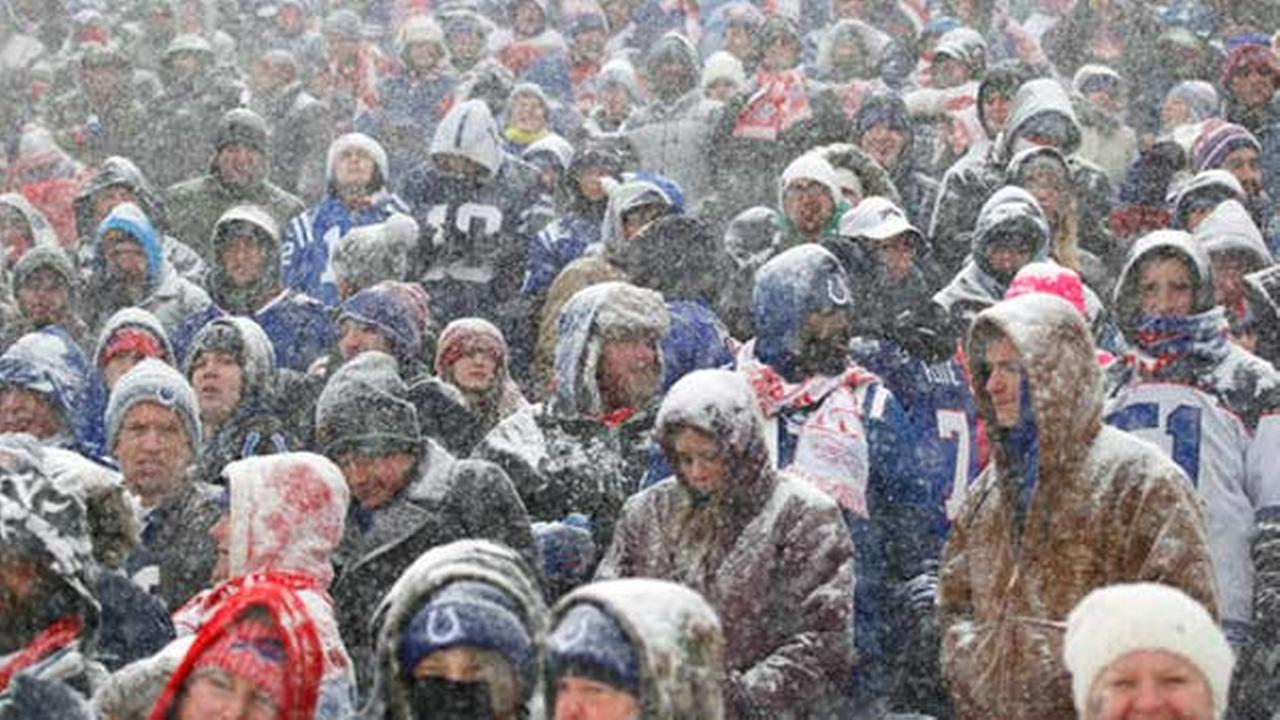 Fans watch during the first half of an NFL football game between the Buffalo Bills and the Indianapolis Colts, Sunday, Dec. 10, 2017, in Orchard Park, N.Y.