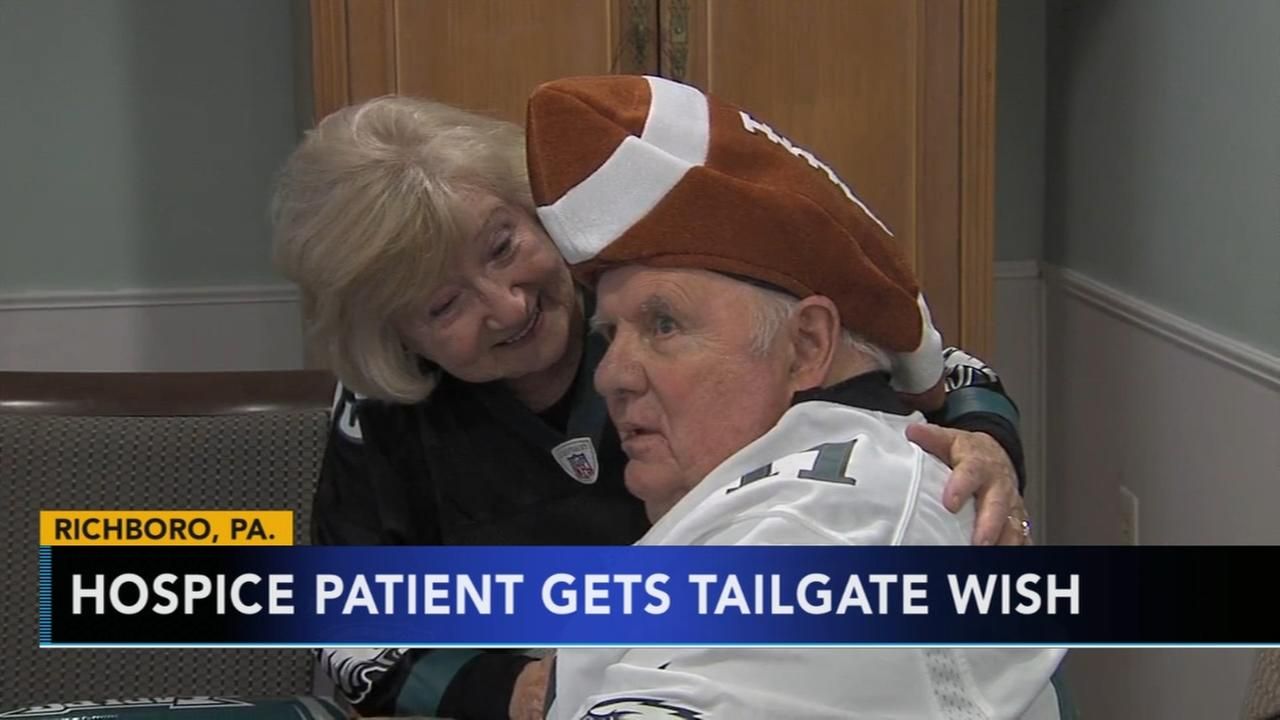 Hospice patient gets Eagles tailgate wish