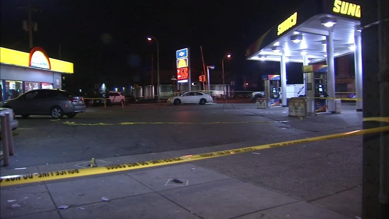 Man shot 4 times in Logan gas station parking lot