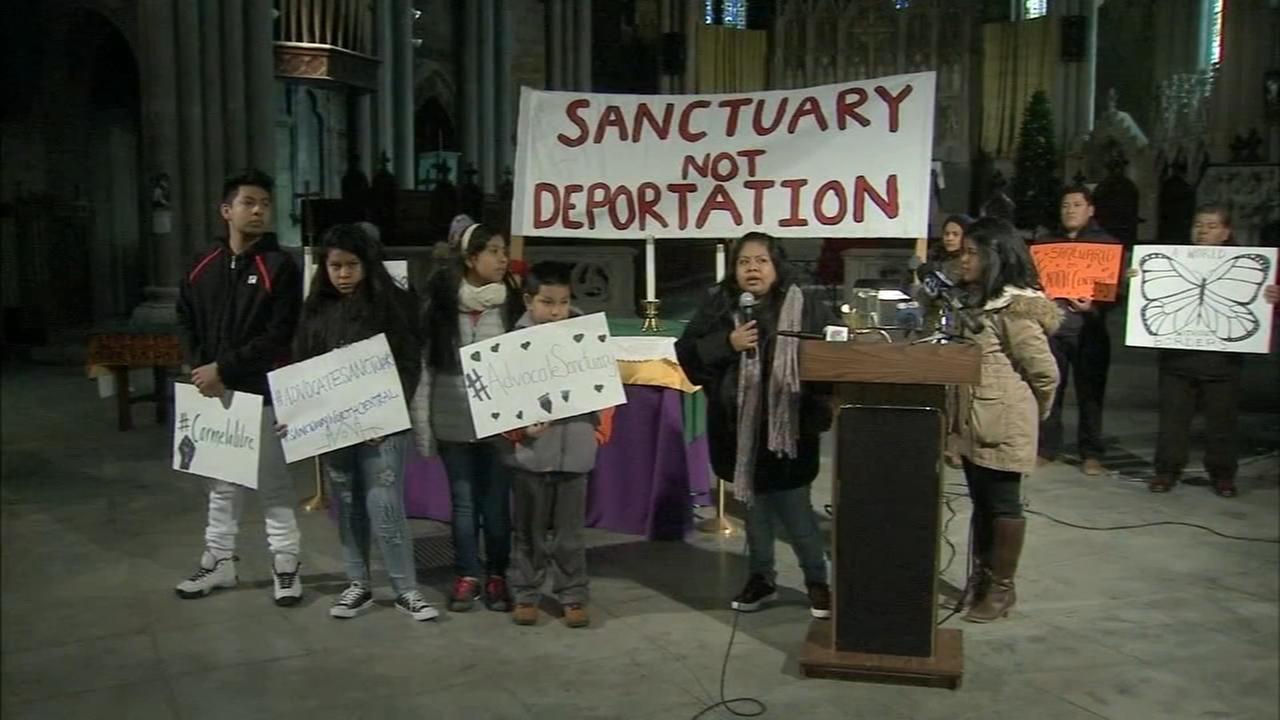 Mexican family seeks asylum in North Philadelphia church