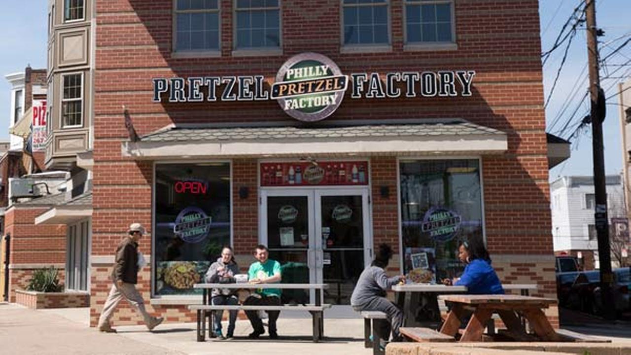 File photo shows pretzels a Philly Pretzel Factory location in Philadelphia.