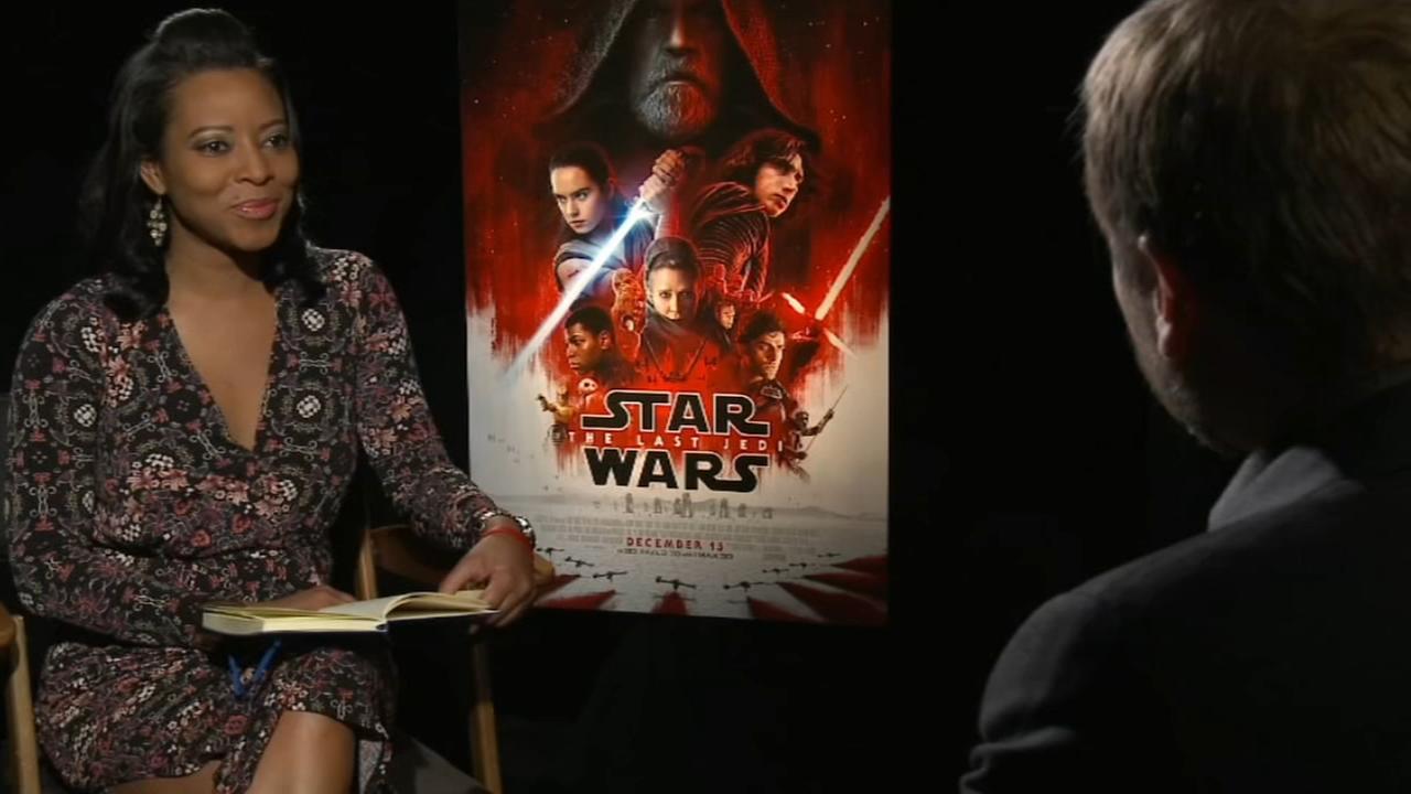 Star Wars director Rian Johnson talks with Sharrie Williams