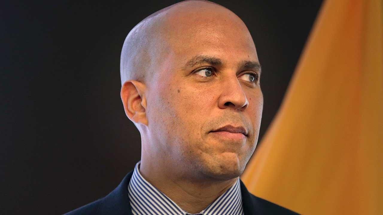 New Jersey Senator Cory Booker speaks during an announcement in Newark, N.J., Monday, Oct. 16, 2017.