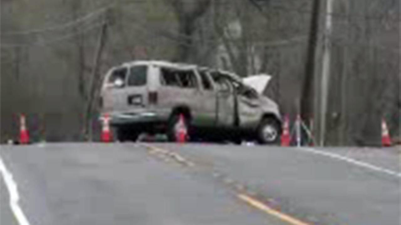 Van crash in Pittsgrove, New Jersey