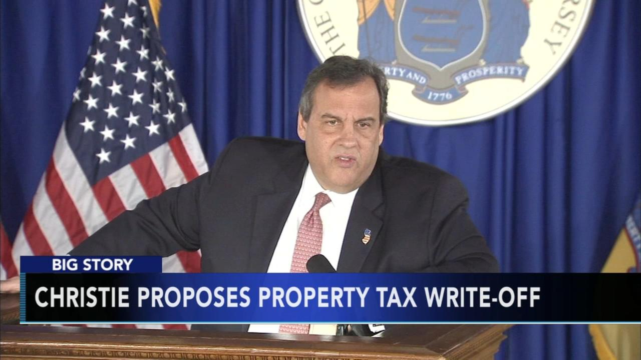Christie calls for property tax write-off on state returns