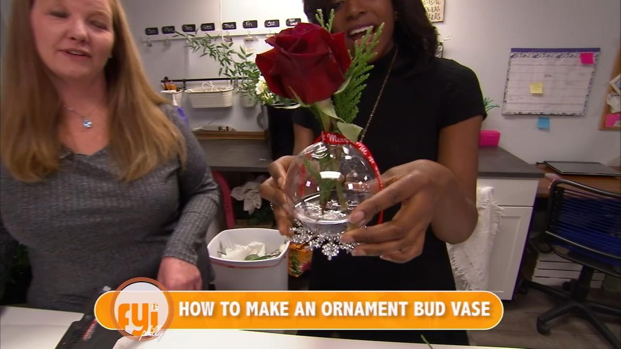 FYI Philly Bonus: How to make an ornament bud vase