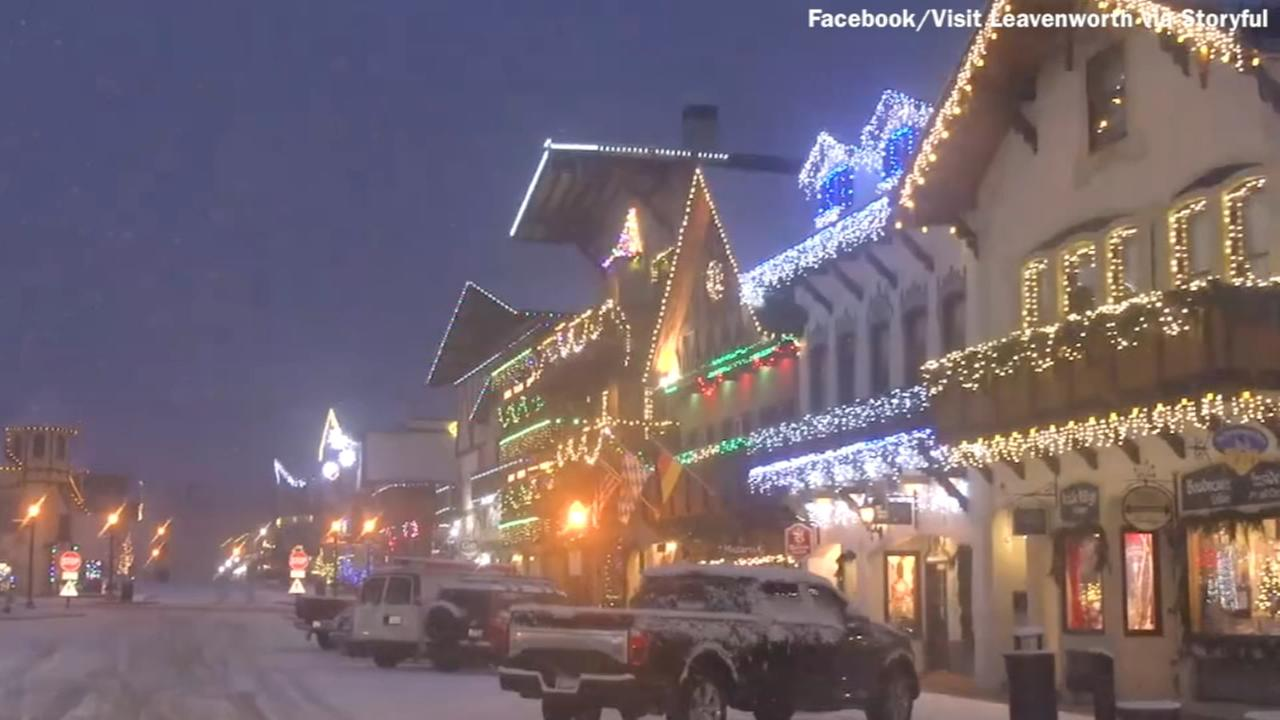 Town transforms into a Christmas village in Washington state