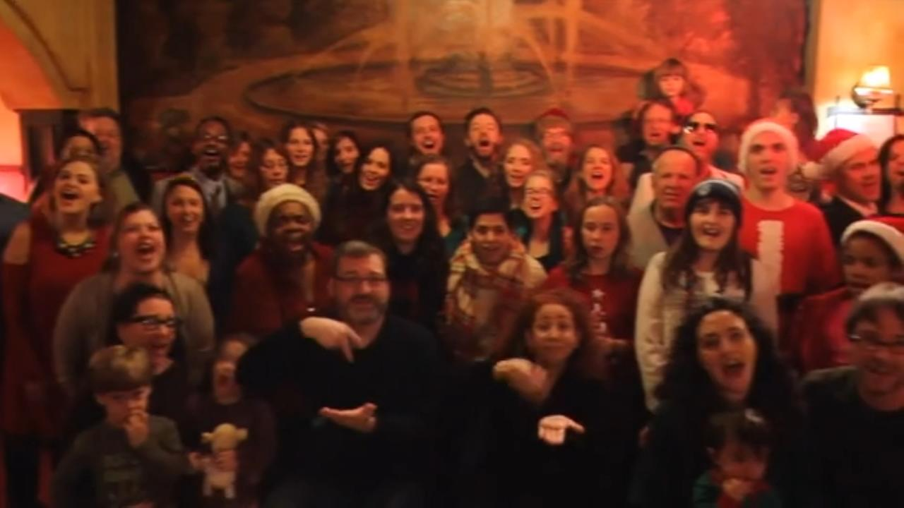 The Philadelphia Theater community performs an original song in their annual holiday video