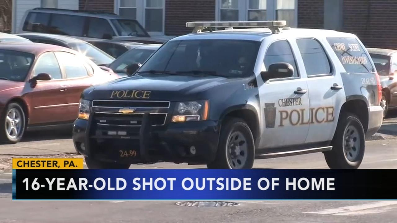 VIDEO: 16-year-old shot outside home in Chester