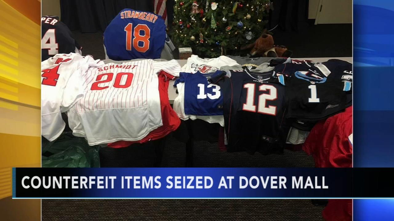Counterfeit items seized at Dover Mall