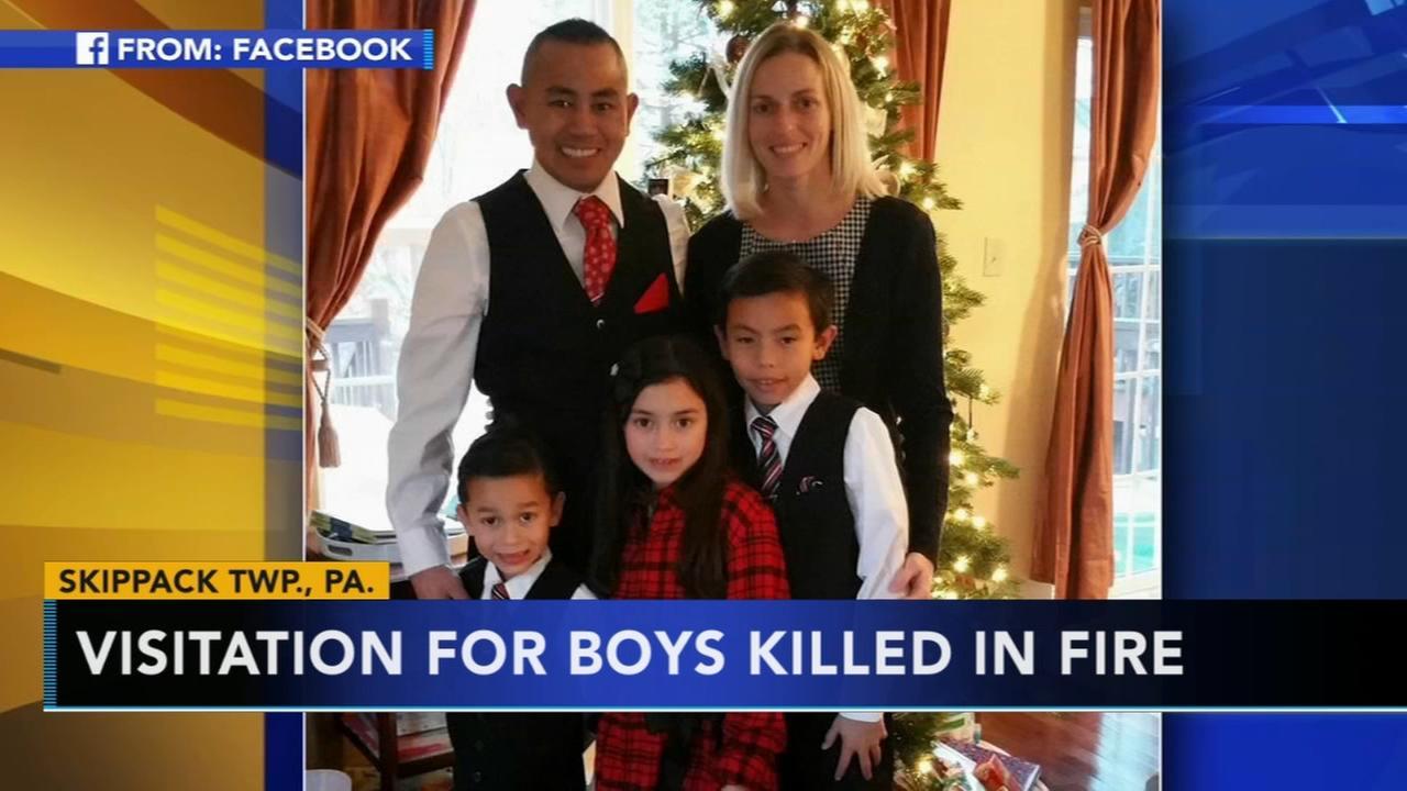 Visitation held for boys killed in Schwenksville fire