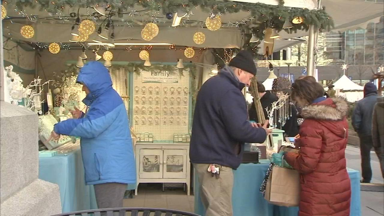 Holiday shopping in full swing at Christmas Village in Center City