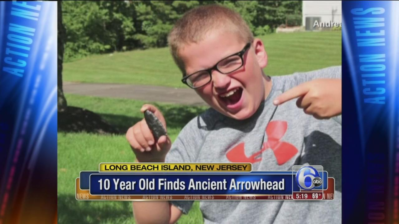 VIDEO: 10-year-old finds ancient arrowhead