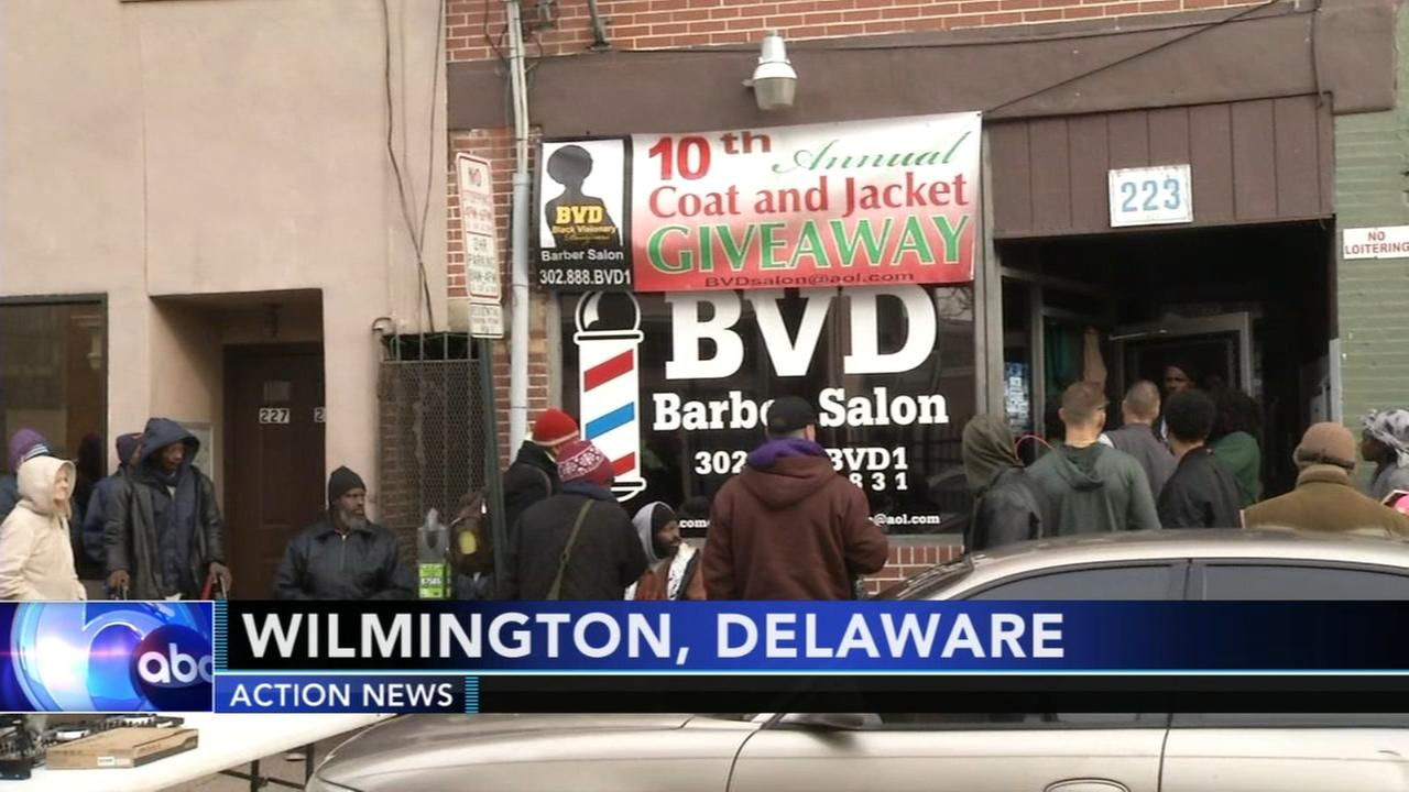 Local barbers hand out coats for those in need