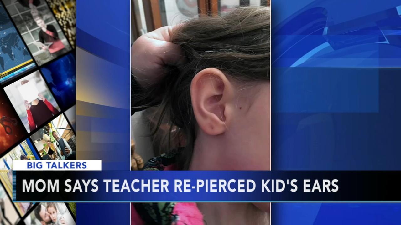 Mom says teacher re-pierced kids ears