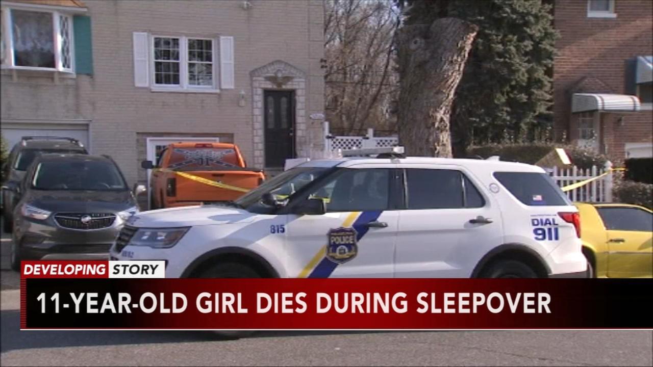 11 year old girl dies at sleepover