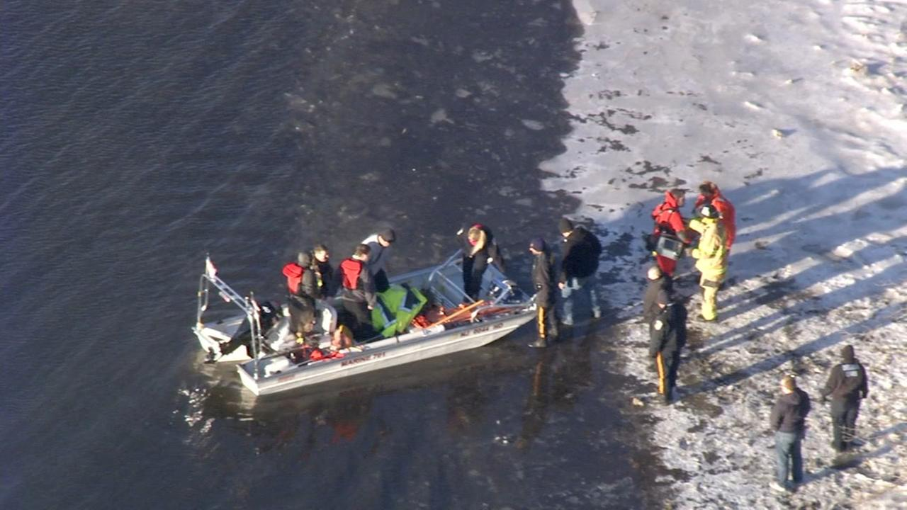 RAW VIDEO: Rescue on Hawk Island