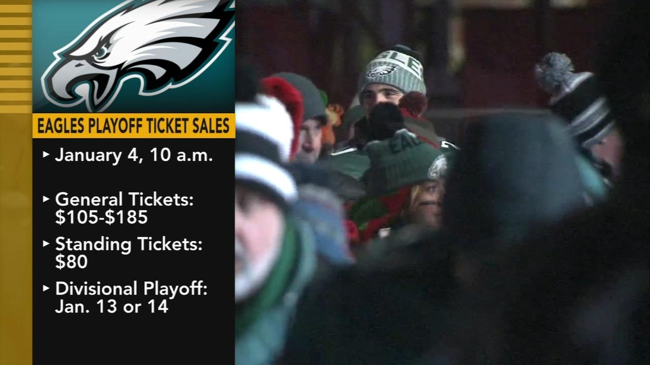 Eagles playoff tickets on sale next week