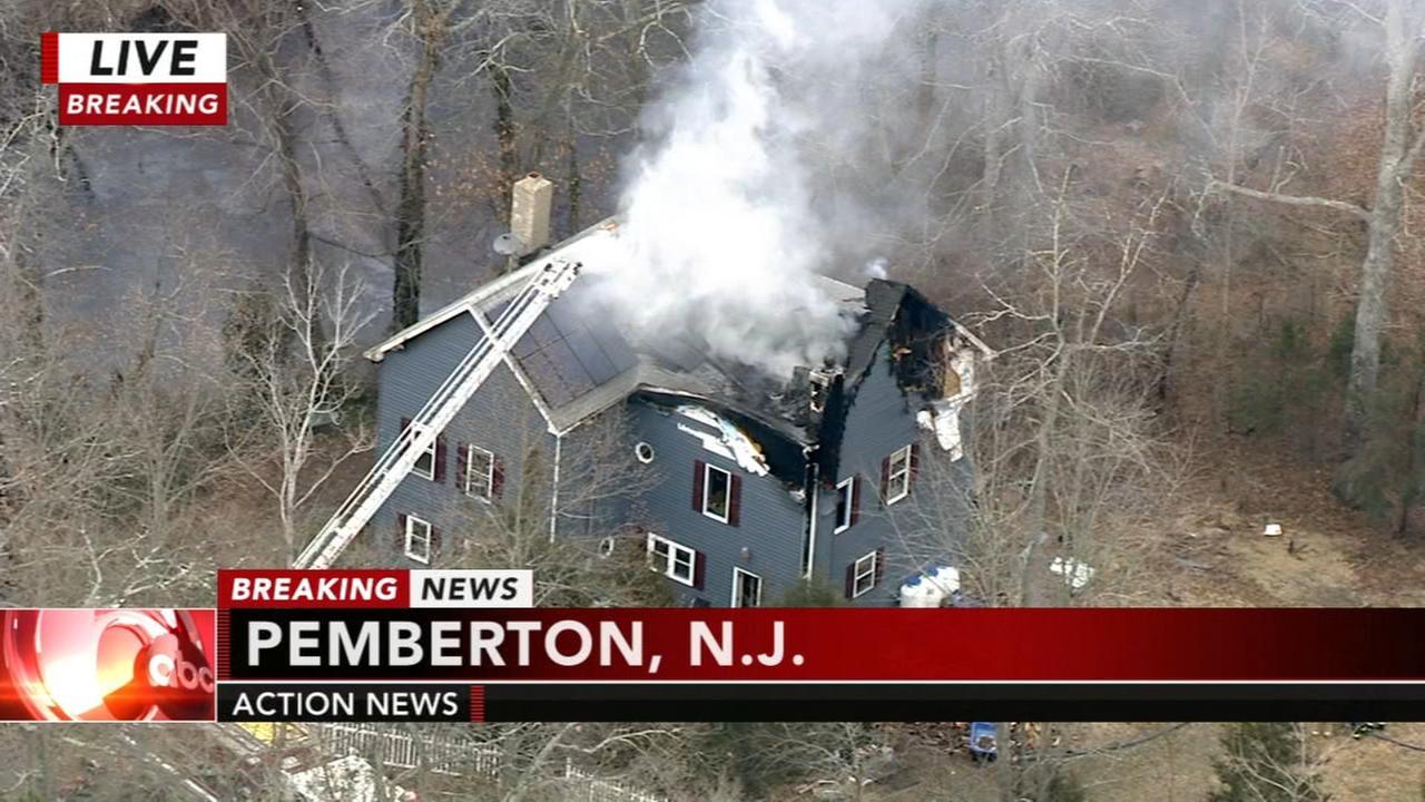 Fire damages home in Pemberton, NJ