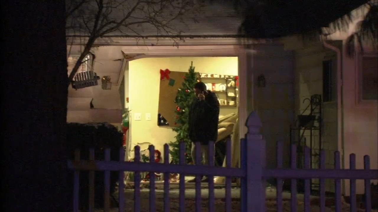 Car crashes into house in Levittown